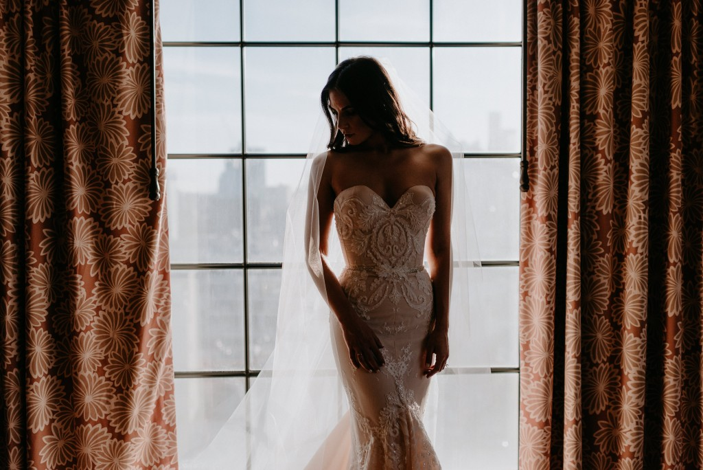 Bride by window